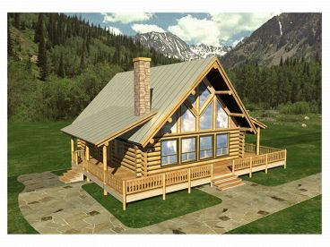 A-Frame Home, Front/Right, 012L-0009