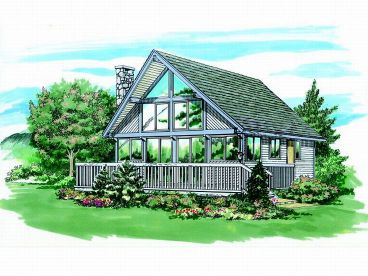 Vacation House Plan, 032H-0007