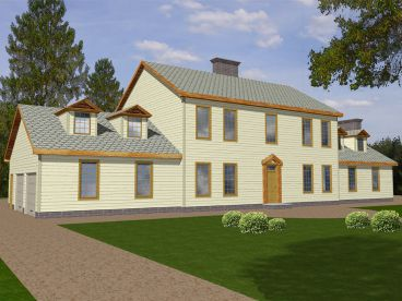 Colonial House Plan, 012H-0109