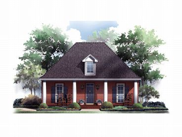 Narrow Lot House Plan, 001H-0043