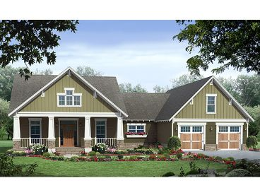 Craftsman House Plan, 001H-0163