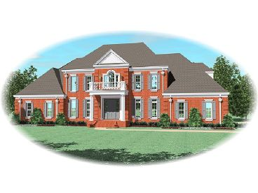 Colonial House Plan, 006H-0135