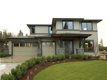 Contemporary Home Plan, 035H-0087