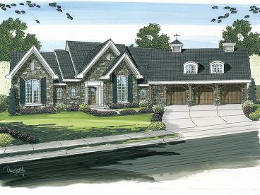 European House Plan, 050H-0018