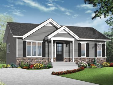 Empty-Nester House Plan, 027H-0372