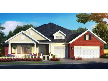 Traditional Ranch Home Plan, 059H-0209