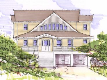 Coastal Home Plan, 041H-0097
