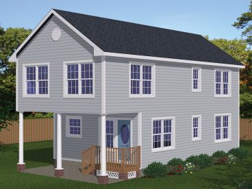 Narrow Lot Home Plan, 068H-0027