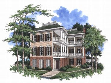 Charleston Home Plan, 017H-0025