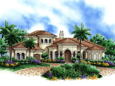 Mediterranean Home Plan, 037H-0050