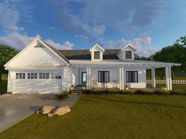 Modern Farmhouse Plan, 050H-0118