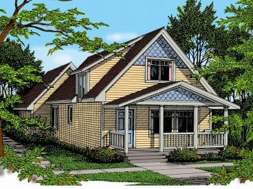 Narrow Lot Home Plan, 026H-0037