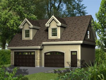 Garage Apartment Plan, 072G-0028