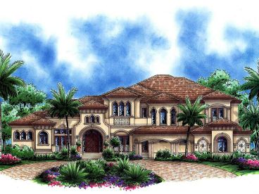 Attractive Tuscan House Plan, 037H 0168