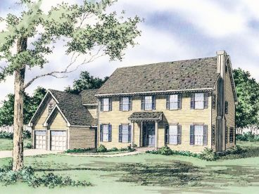 Cape Cod Home Plan, 009H-0036