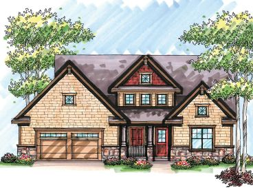 Craftsman House Plan, 020H-0217