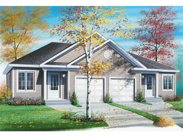 Duplex Home Plan, 027M-0070