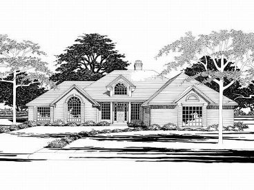 Ranch House Plan, 036H-0023