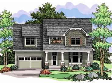 2-Story Craftsman House, 023H-0130