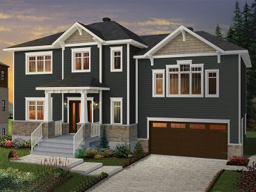 Two-Story House Plan, 027H-0451
