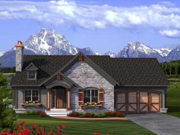 European House Plan, 020H-0360