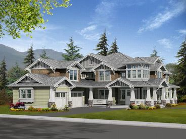 Luxury Craftsman House, 035H-0033