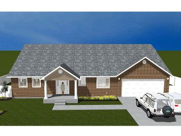 One-Story House Plan, 065H-0012