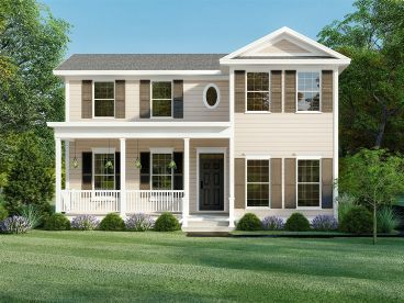 Two-Story House Plan, 074H-0124