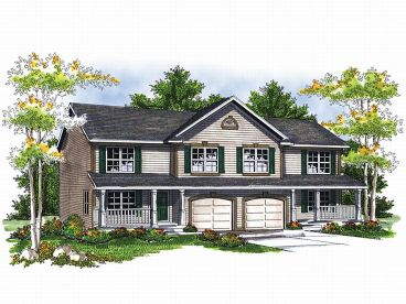 Duplex Home Plan, 020M-0041