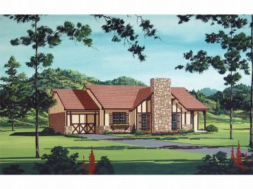 Tudor House Plan, 021H-0023