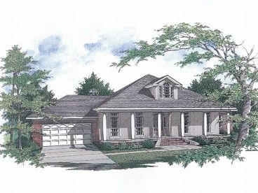 1-Story House Design, 004H-0055