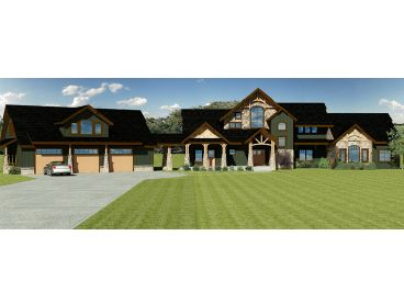 Luxury Craftsman Home, 038H-0005