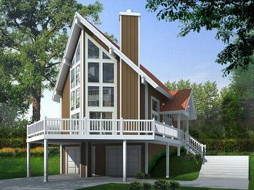 A-Frame House Plan, 026H-0114