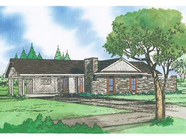 Ranch House Plan, 009H-0003