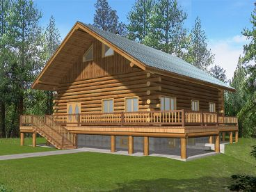 Mountain Log Home, 012L-0063