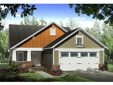 Bungalow Home Design, 001H-0136