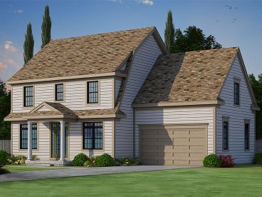 Colonial House Plan, 031H-0266