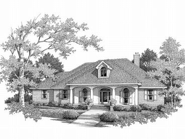 Ranch Home Plan, 004H-0071