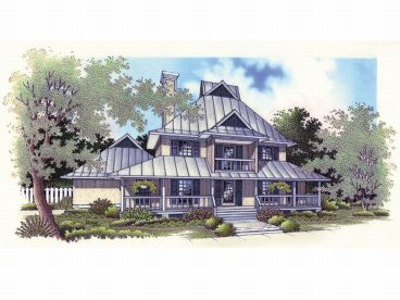 Two-Story Home Plan, 021H-0089