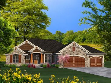 Ranch House Plan, 020H-0366