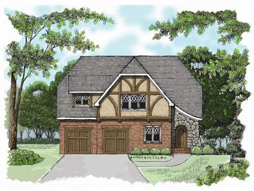 European House Plan, 029H-0010
