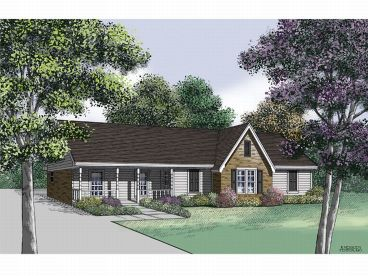 Ranch House Plan, 021H-0038