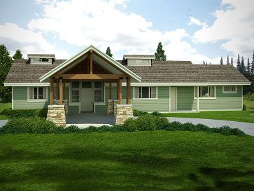 Craftsman House Plan, 051H-0248