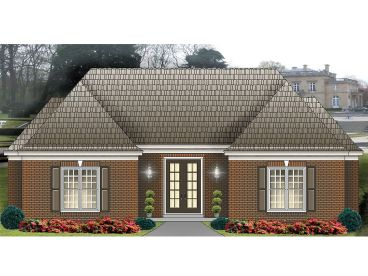 Pool House Plan, 006C-0010
