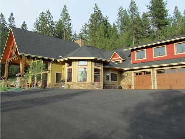 Craftsman Home Plan Photo, 012H-0140