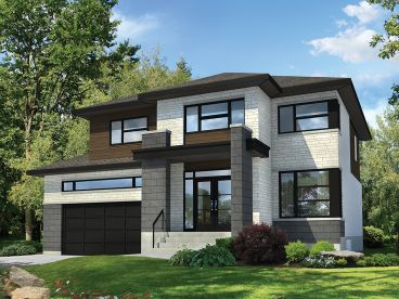 Modern Family Home Plan, 072H-0133