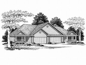 Duplex Home Plan, 020M-0037