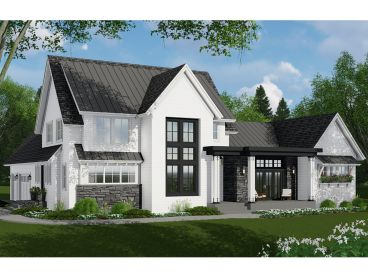 Two-Story House Plan, 023H-0206