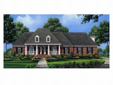 Ranch Home Plan, 001H-0116