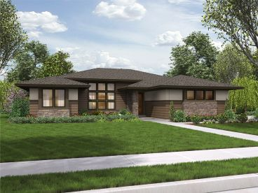 Contemporary Ranch House, 034H-0291